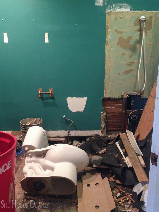 Farmhouse Bathroom Remodel Before and After
