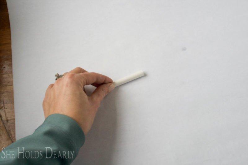 chalk rubbing