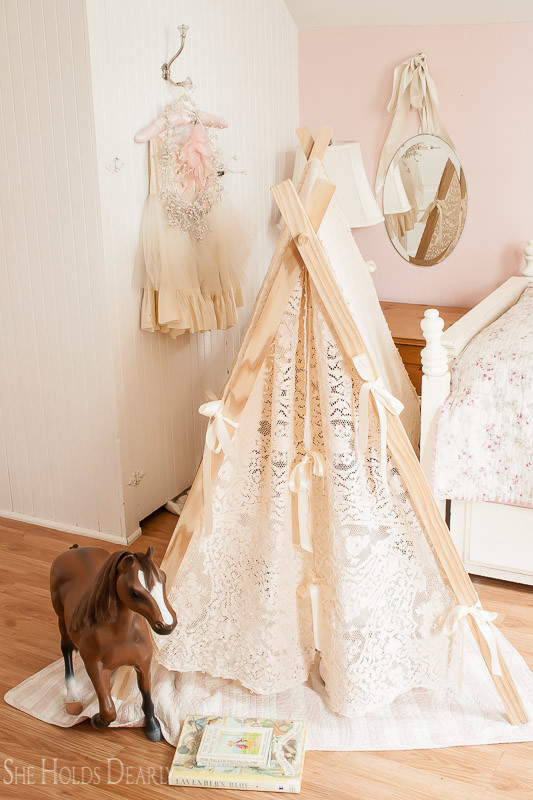 DIY Lace Tent by She Holds Dearly