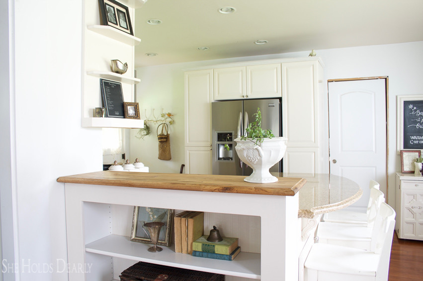 Customizing Butcher Block Counters by She Holds Dearly