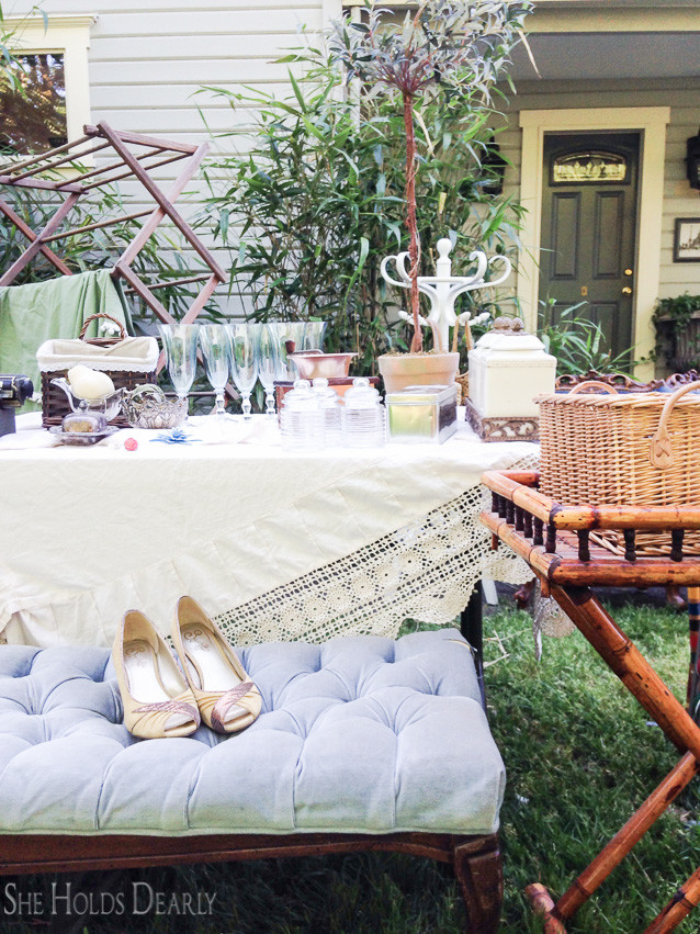 5 Secrets to Shopping Yard Sales by She Holds Dearly