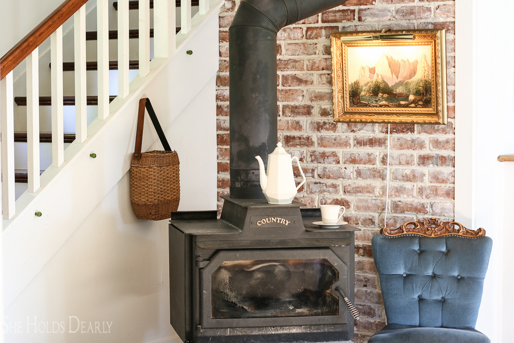 How To Install A Rustic Brick Accent Wall By She Holds Dearly