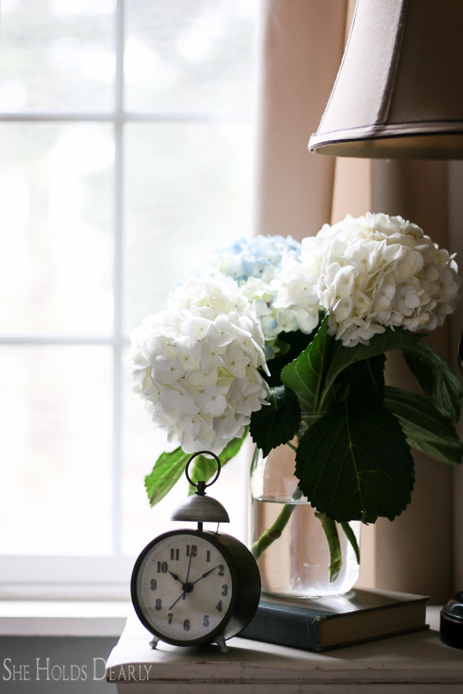 Sweet touches for a nightstand, good morning.