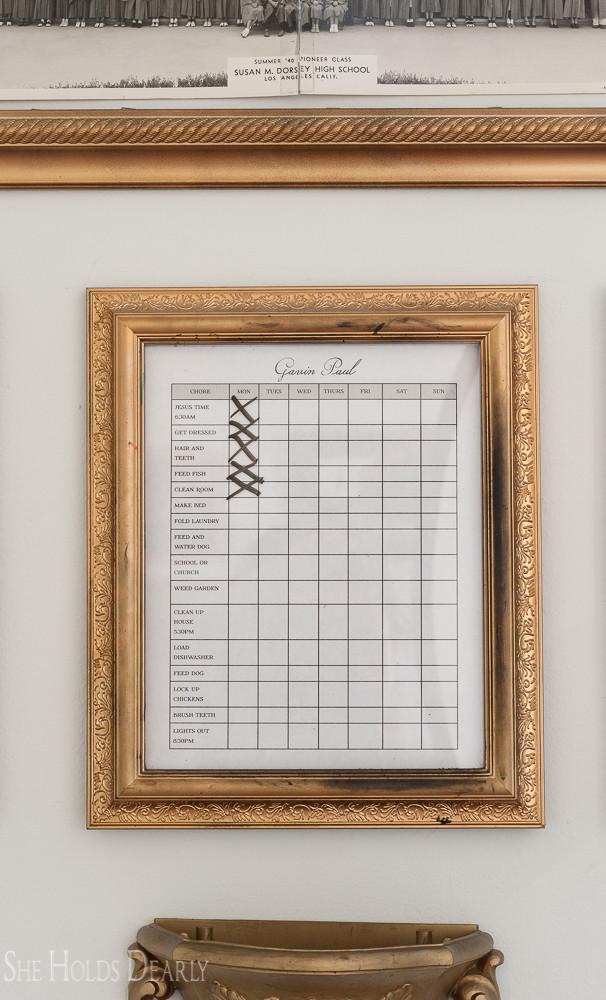 Children's Chore Chart Printables