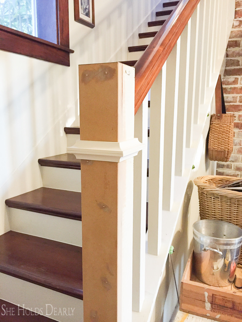 Simple DIY for a farmhouse style newel post