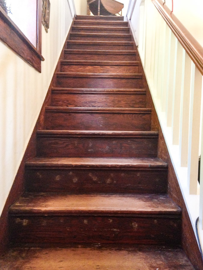 before and after from carpet to restored wood stairs - Wooden Stairs
