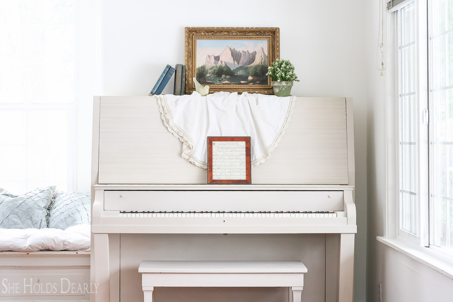 Painting a  Piano with Milk Paint