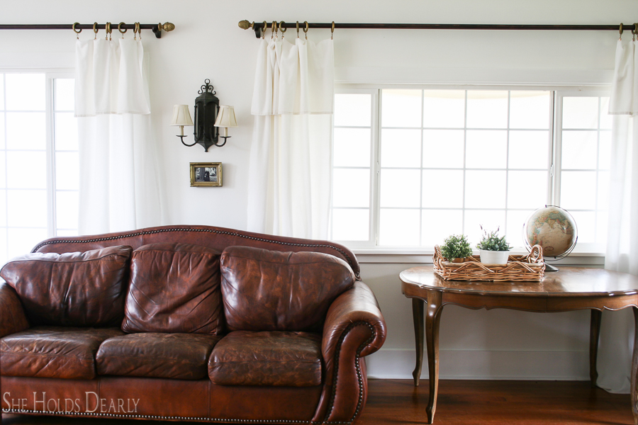 Farmhouse Drop Cloth Curtains