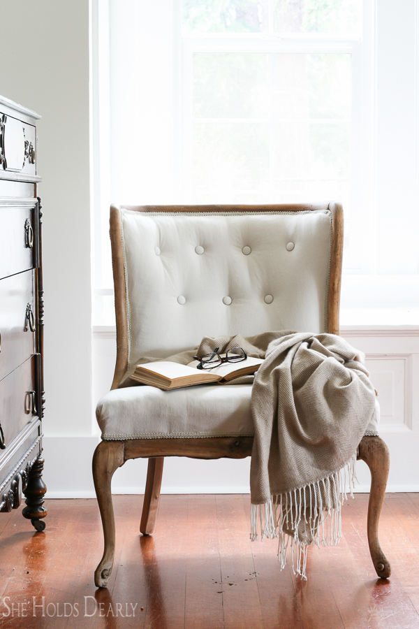 Attractive How To Reupholster An Antique Chair  Start To Finish! Including Tufting!