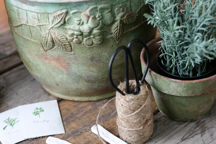Aging Terra Cotta Pots