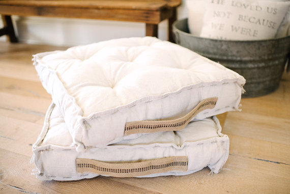 Etsy French Mattress Floor Cushion by She Holds Dearly