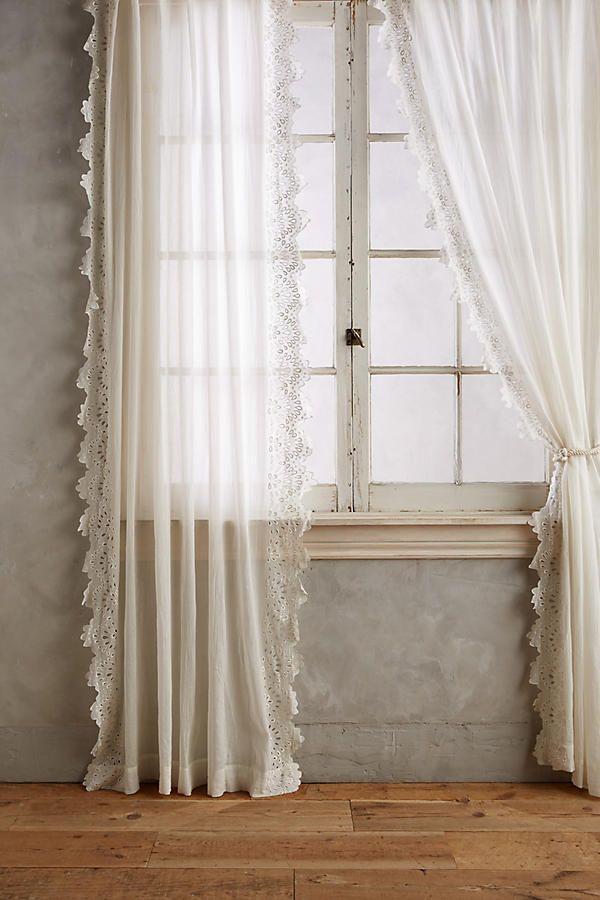 No Sew Lace Curtains She Holds Dearly