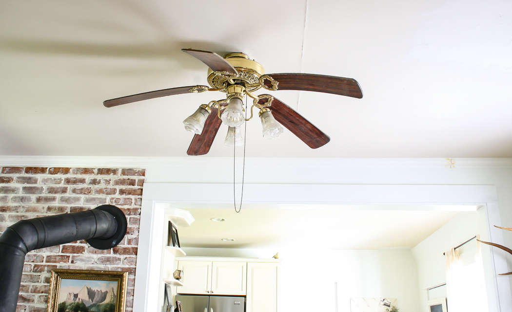 DIY Industrial Ceiling Fan by She Holds Dearly