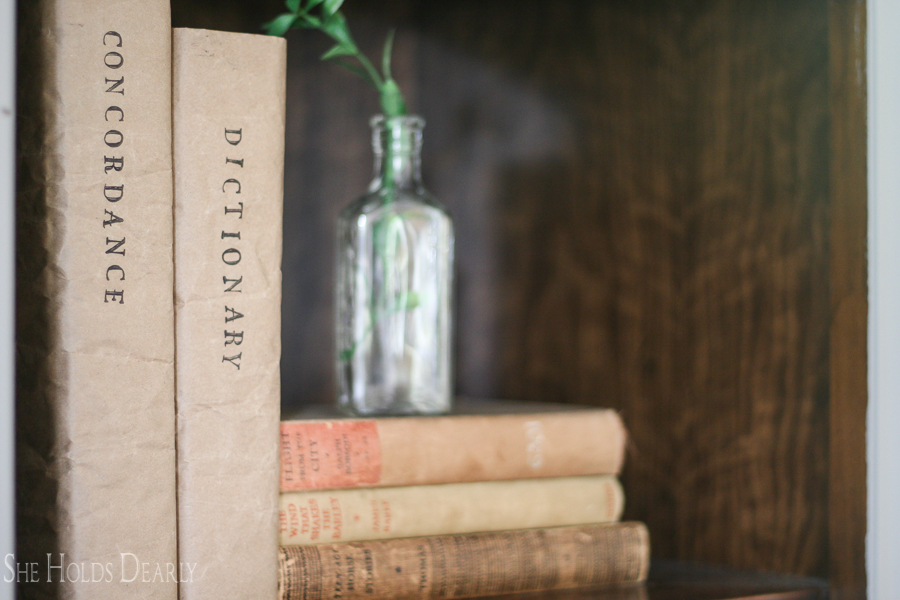 Kraft Paper Book Cover Ideas by She Holds Dearly
