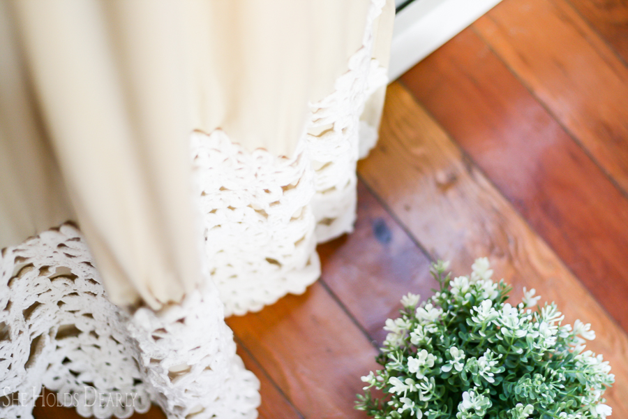White Lace Curtains by sheholdsdearly.com