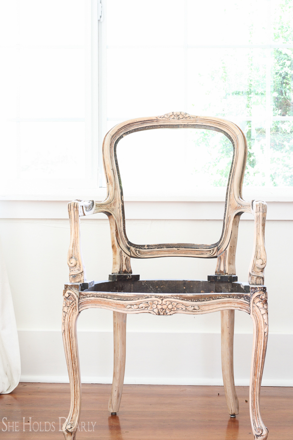 French Chair Makeover by sheholddearly.com