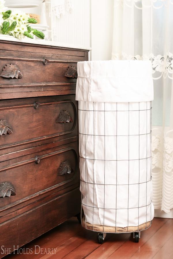 DIY Clothes Hamper Idea by sheholdsdearly.com