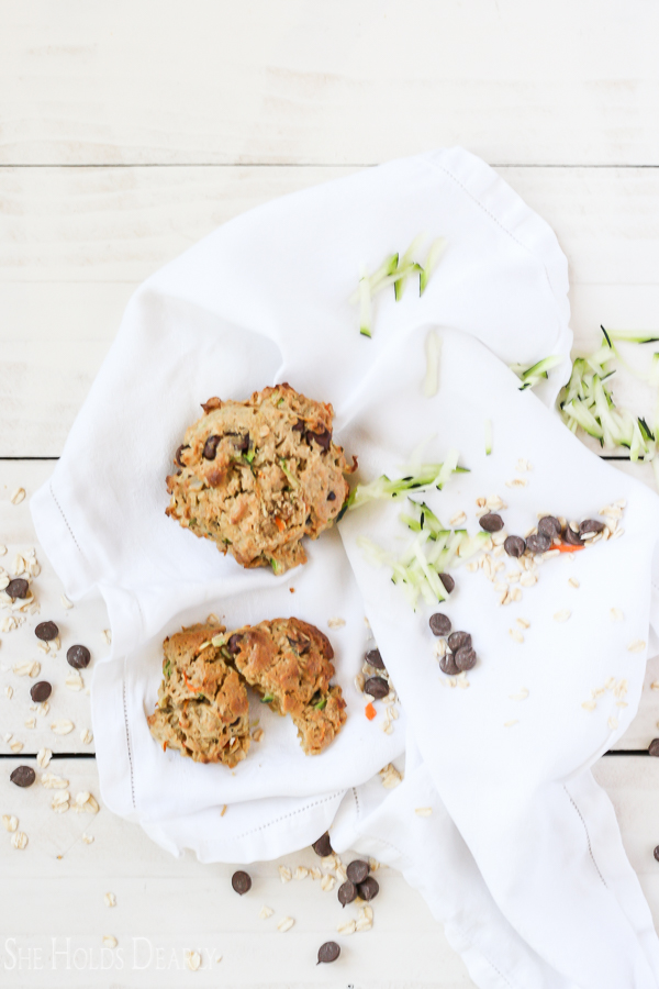 Egg Free Zucchini Breakfast Cookies by sheholdsdearly.com