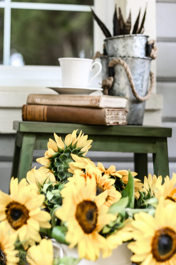 Front Porch Autumn Decor by sheholdsdearly.com