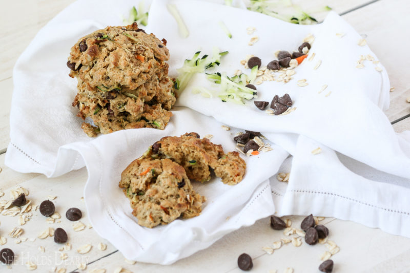 Natural Zucchini Breakfast Cookies by sheholdsdearly.com