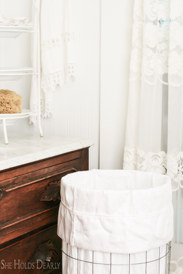 Wire Clothes Hamper by sheholdsdearly.com