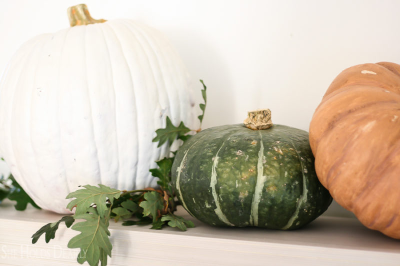 Decorating with Heirloom Pumpkins by sheholdsdearly.com