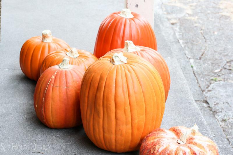 Foam Pumpkin Tutorial by sheholdsdearly.com