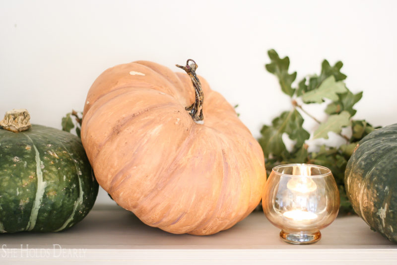 Inexpensive Faux Pumpkins by sheholdsdearly.com