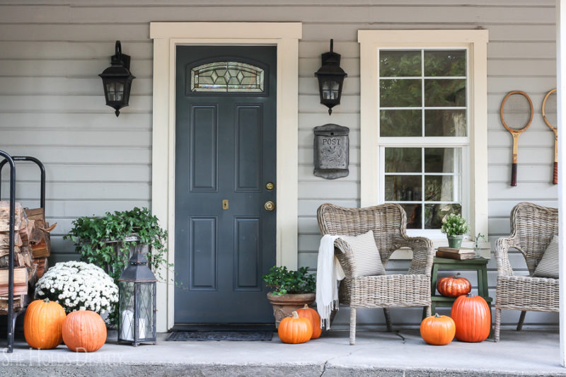 Painting Faux Pumpkins by sheholdsdearly.com