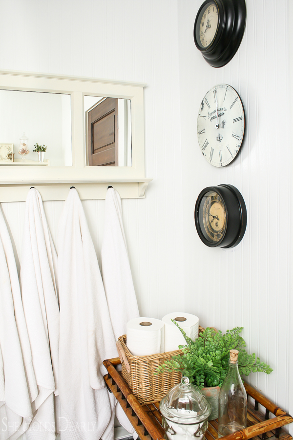 Farmhouse Powder Room Reveal by sheholdsdearly.com