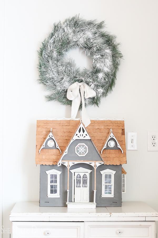 Doll House Christmas Decor by sheholdsdearly.com