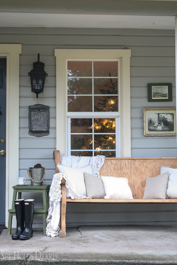 Front Porch Christmas Decor by sheholdsdearly.com