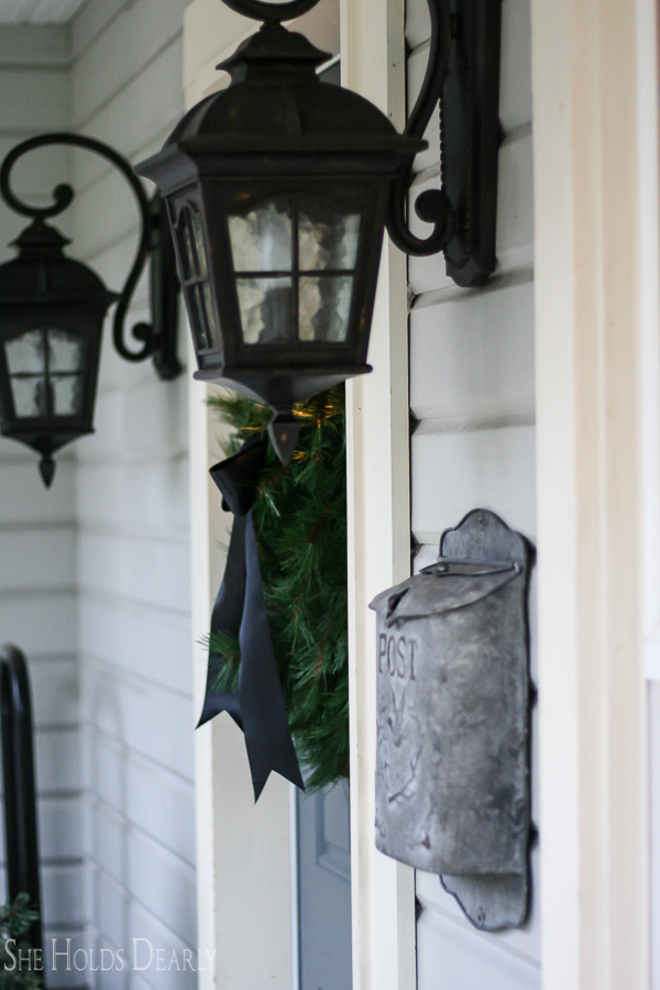 Porch Light Christmas Wreath by sheholdsdearly.com