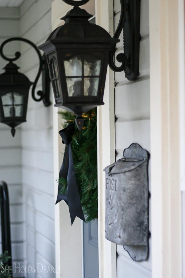 Porch Light Christmas Wreath by sheholdsdearly.com