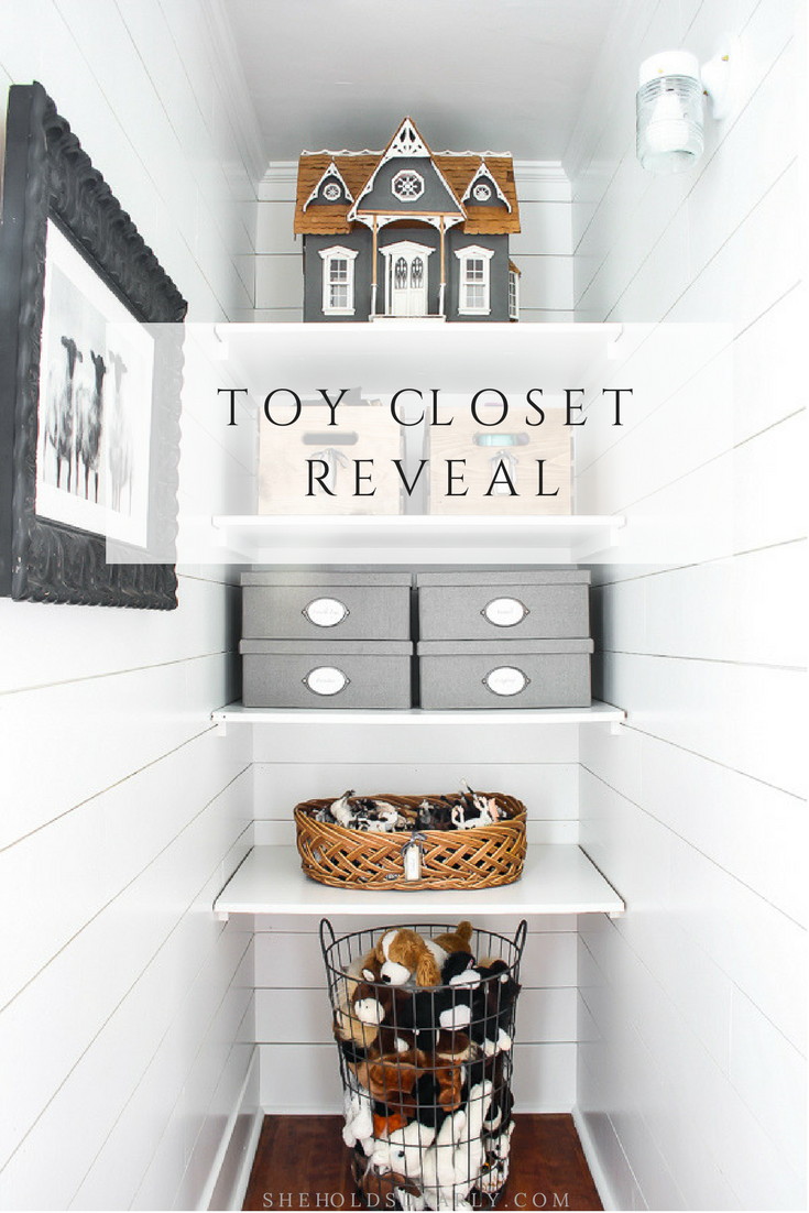 Toy Closet Reveal by sheholdsdearly.com