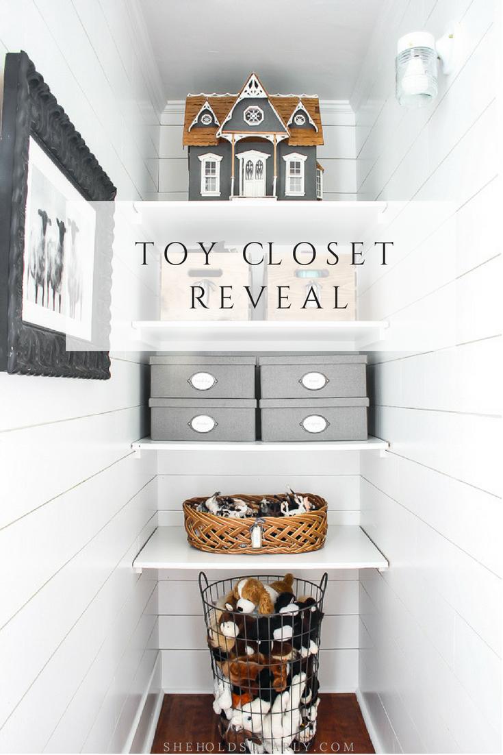 Toy Closet Reveal by sheholdsdearly.com