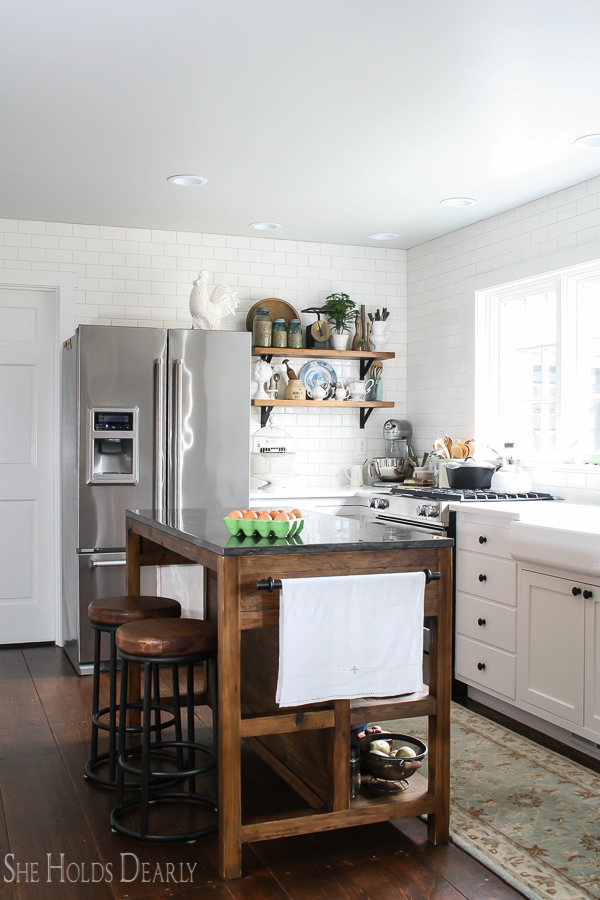 Kitchen Remodel, Vintage Home by sheholdsdearly.com