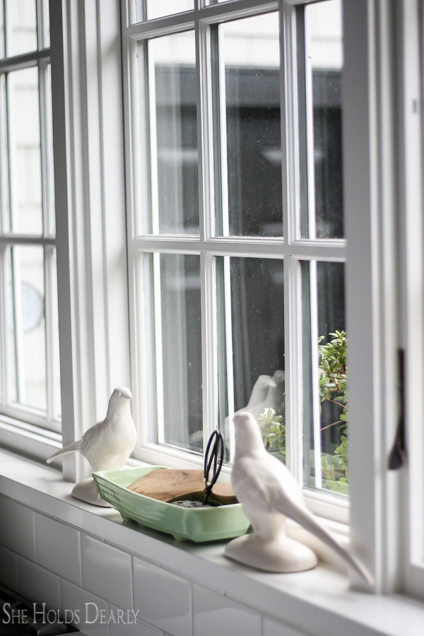 Kitchen Window Decor by sheholdsdearly.com