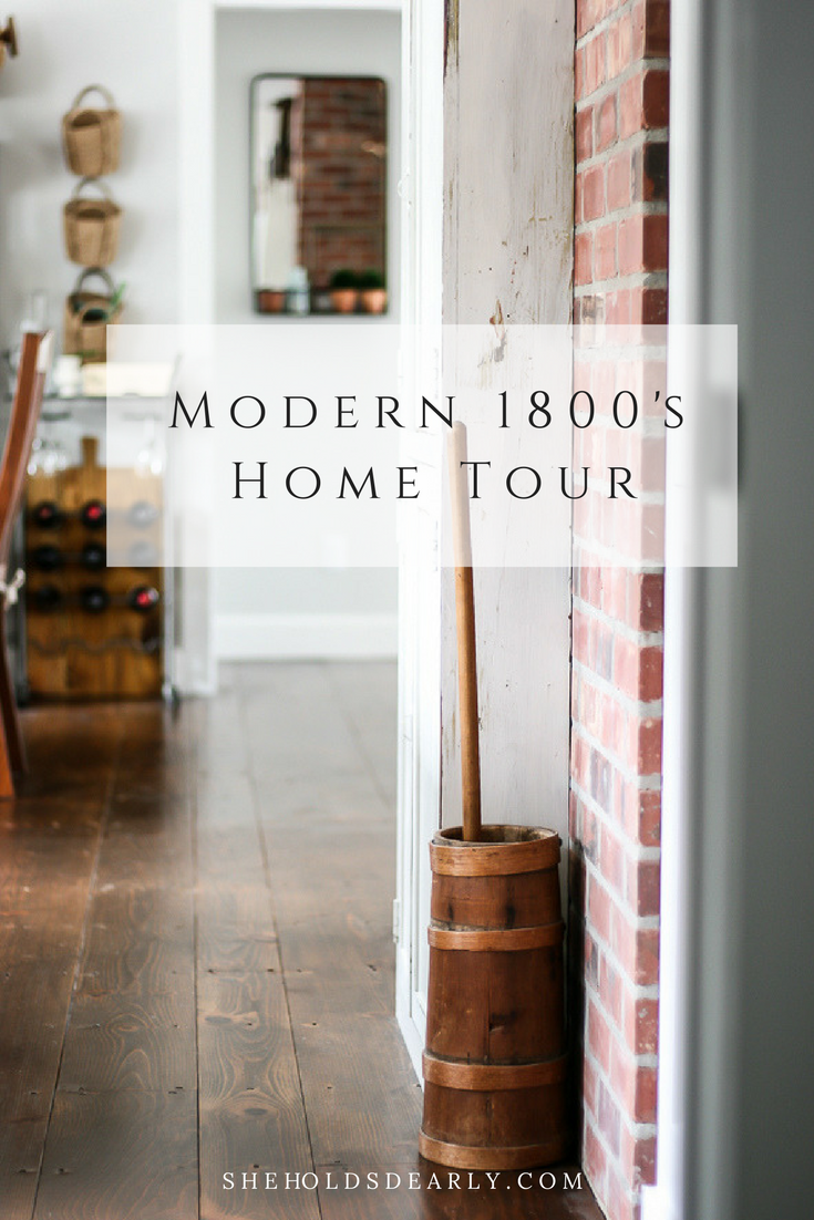 Modern 1800's Cottage Home Tour by sheholdsdearly.com