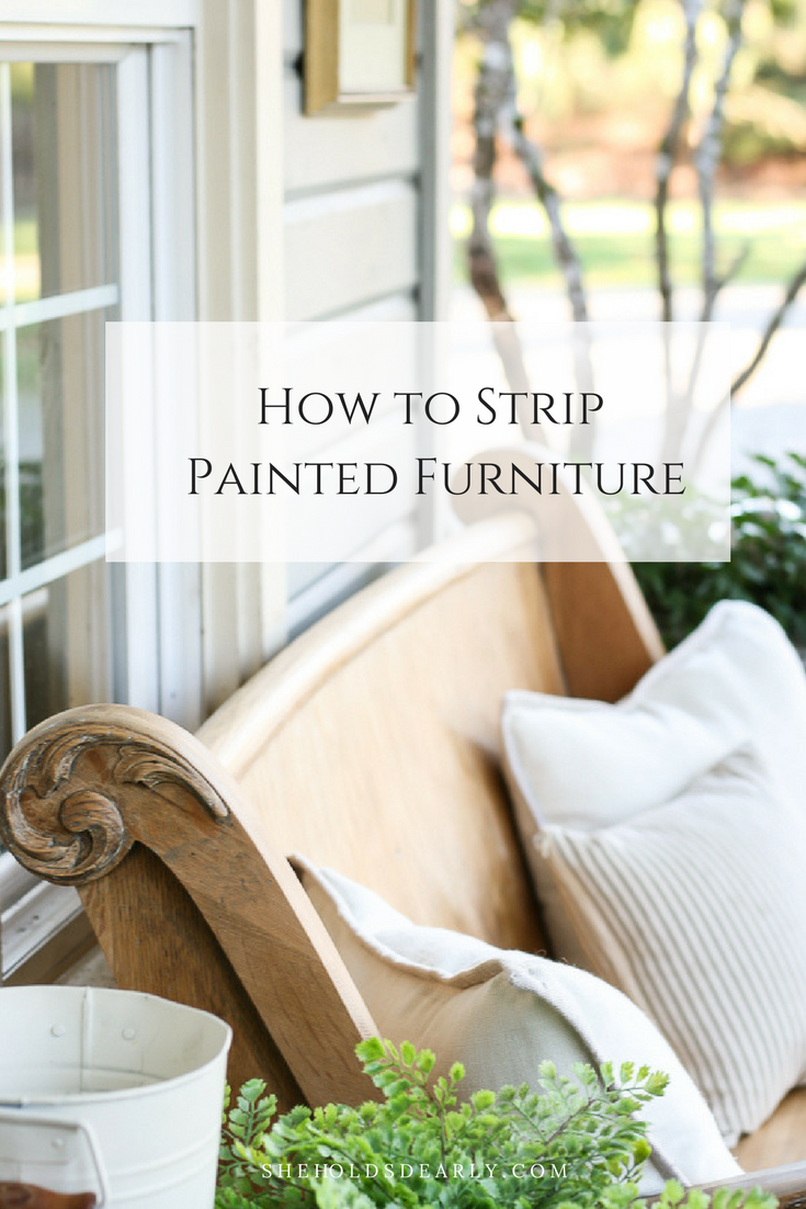 How to Strip Painted Furniture by sheholdsdearly.com
