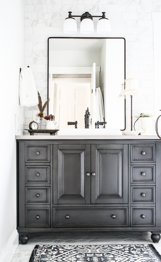 Cottage Decor Ideas Master Bathroom by sheholdsdearly.com