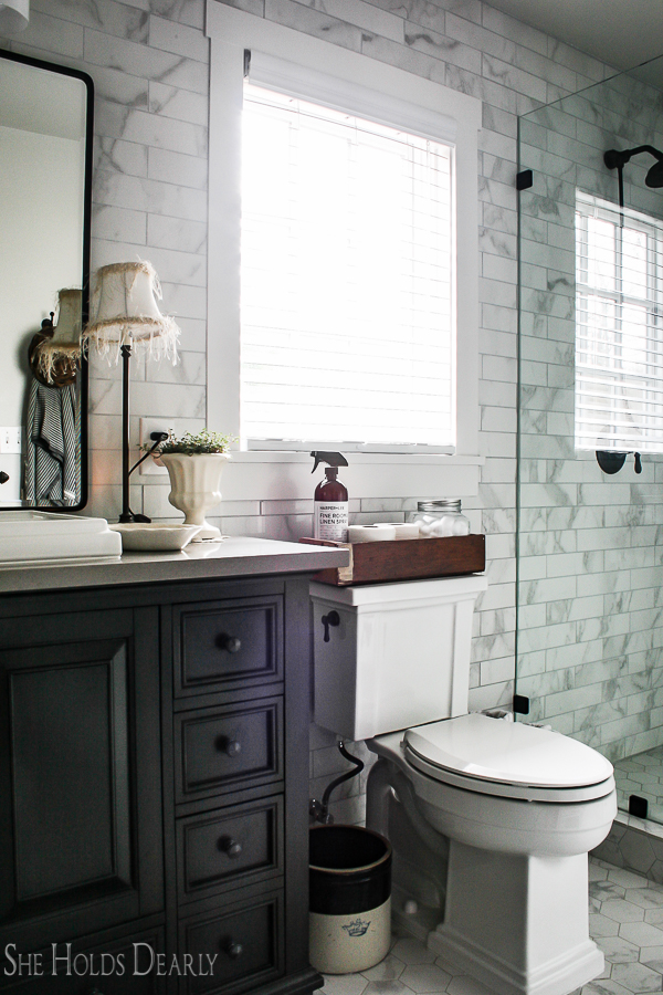 Cottage Style Decorating Ideas Master Bathroom by sheholdsdearly.com