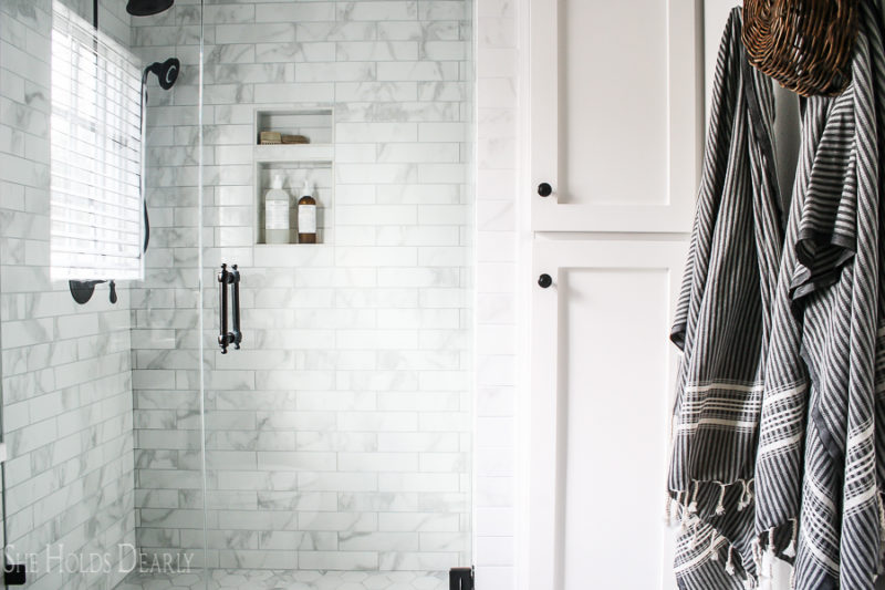 Cottage Style Master Bathroom by sheholdsdearly.com