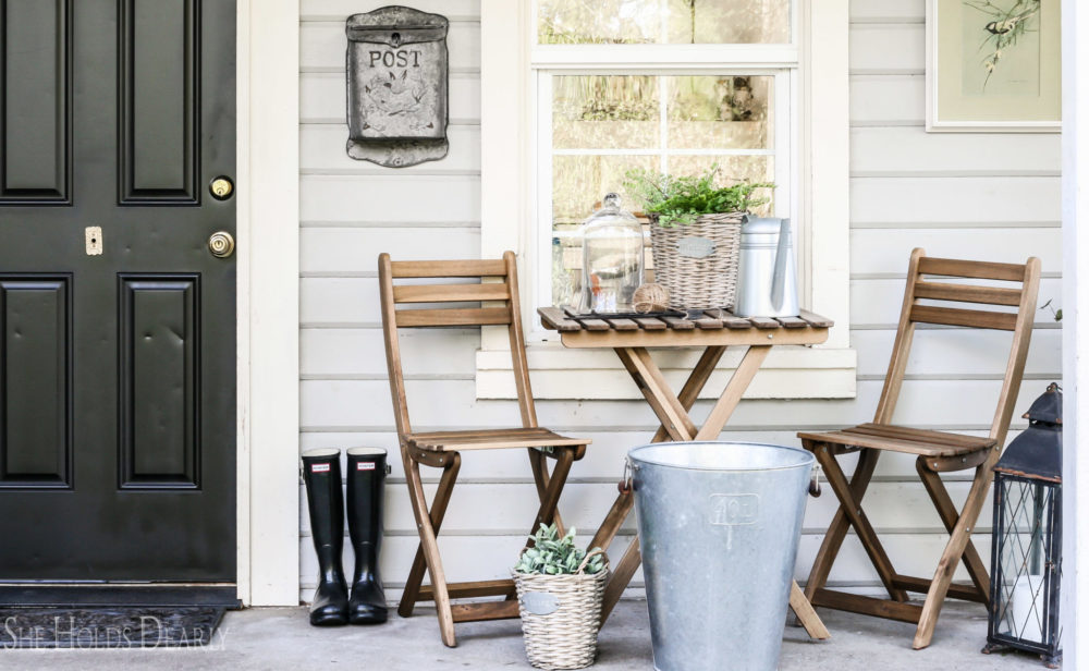 Cottage Style Porch Decor by sheholdsdearly.com