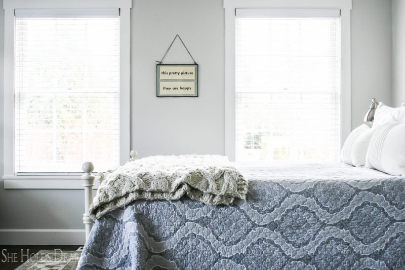 Farmhouse Home Tour Master Bedroom by sheholdsdearly.com