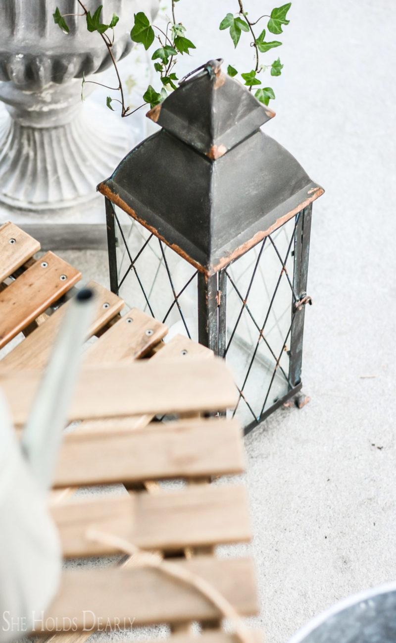 Farmhouse Style Spring Porch by sheholdsdearly.com