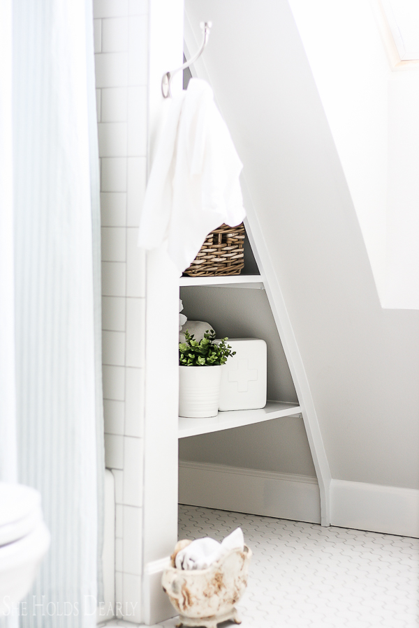Modern Farmhouse Bathroom by sheholdsdearly.com