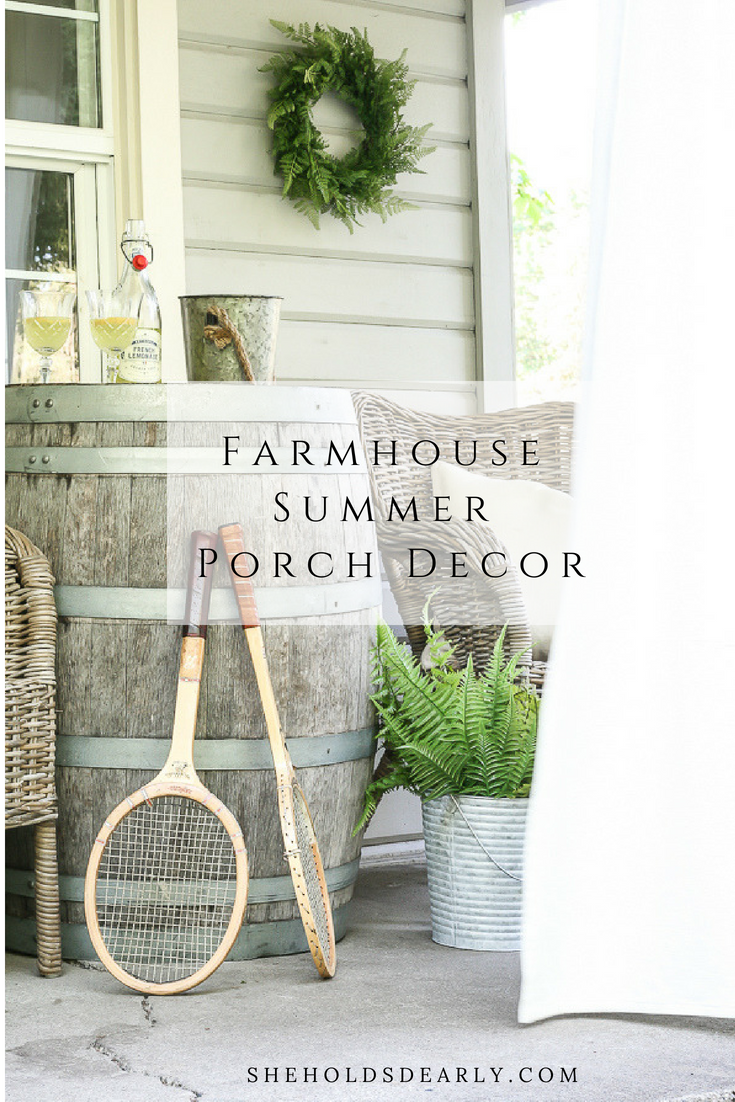 Ferns, wicker chairs, vintage tennis rackets, french lemonade and even a whiskey barrel!
