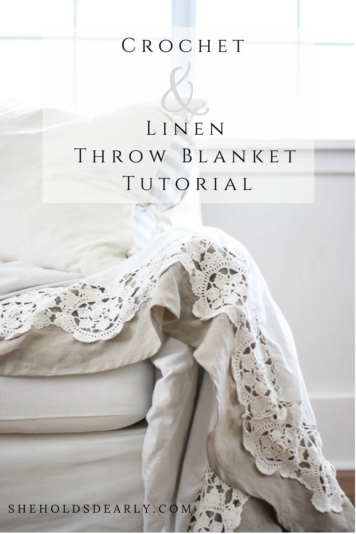 Ever wonder what to do with that vintage crocheted table cloth or coverlet? How about turn it into a beautiful linen backed throw blanket? Learn how in this tutorial.