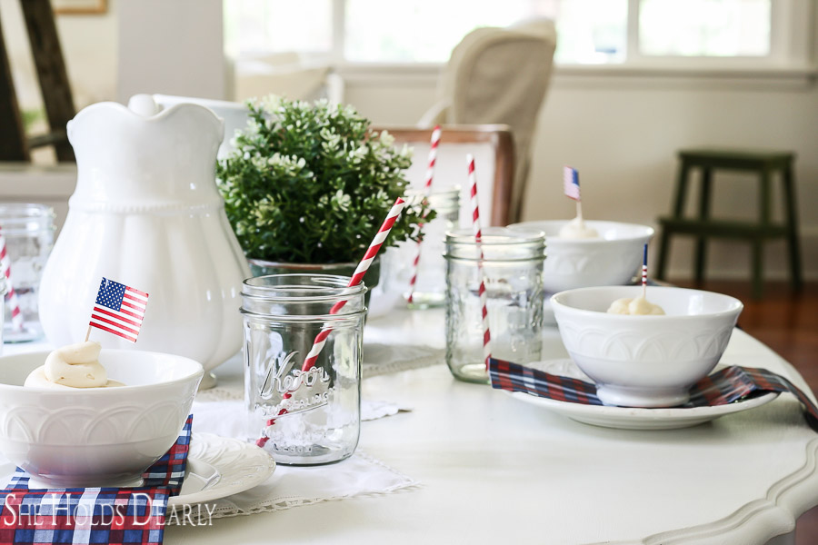 Patriotic Farmhouse Dining Room